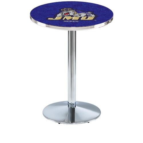 NCAA Pub Table by Holland Bar Stool, Chrome - JMU, 42'' - L214