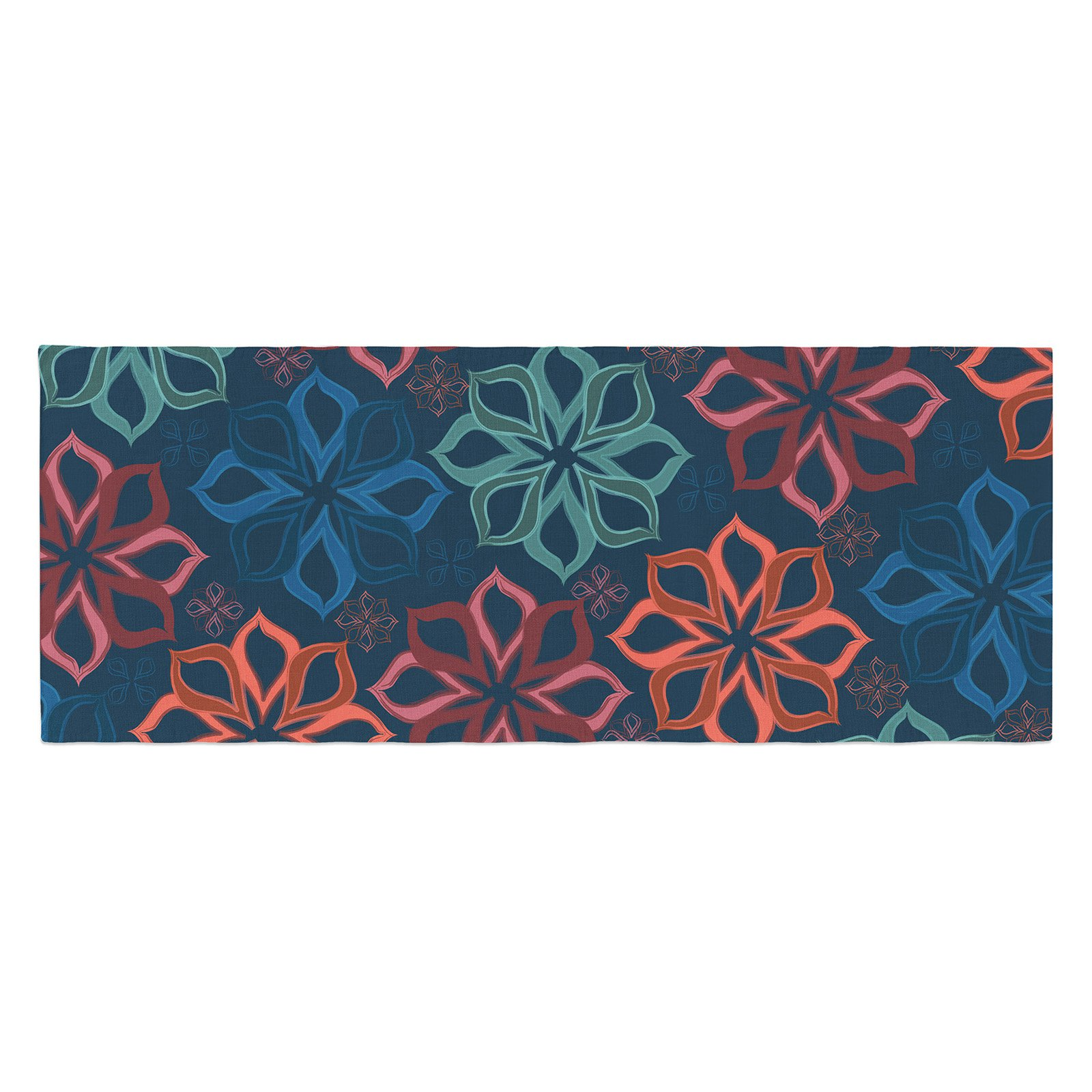 Jolene Heckman Charm Flowers Bed Runner by Kess InHouse