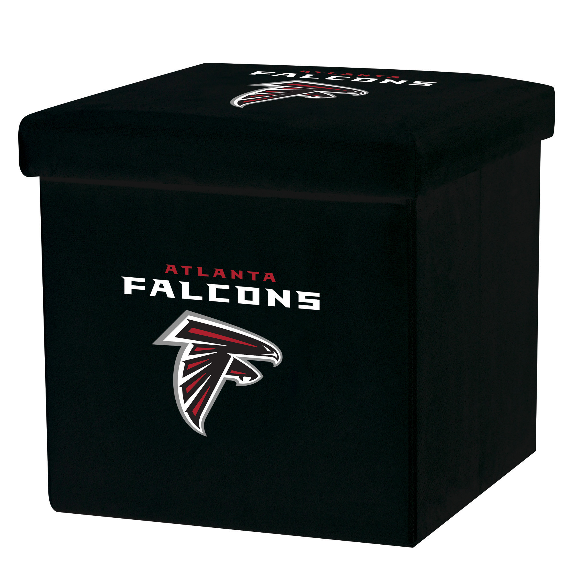 Franklin Sports NFL Atlanta Falcons Storage Ottoman with Detachable Lid