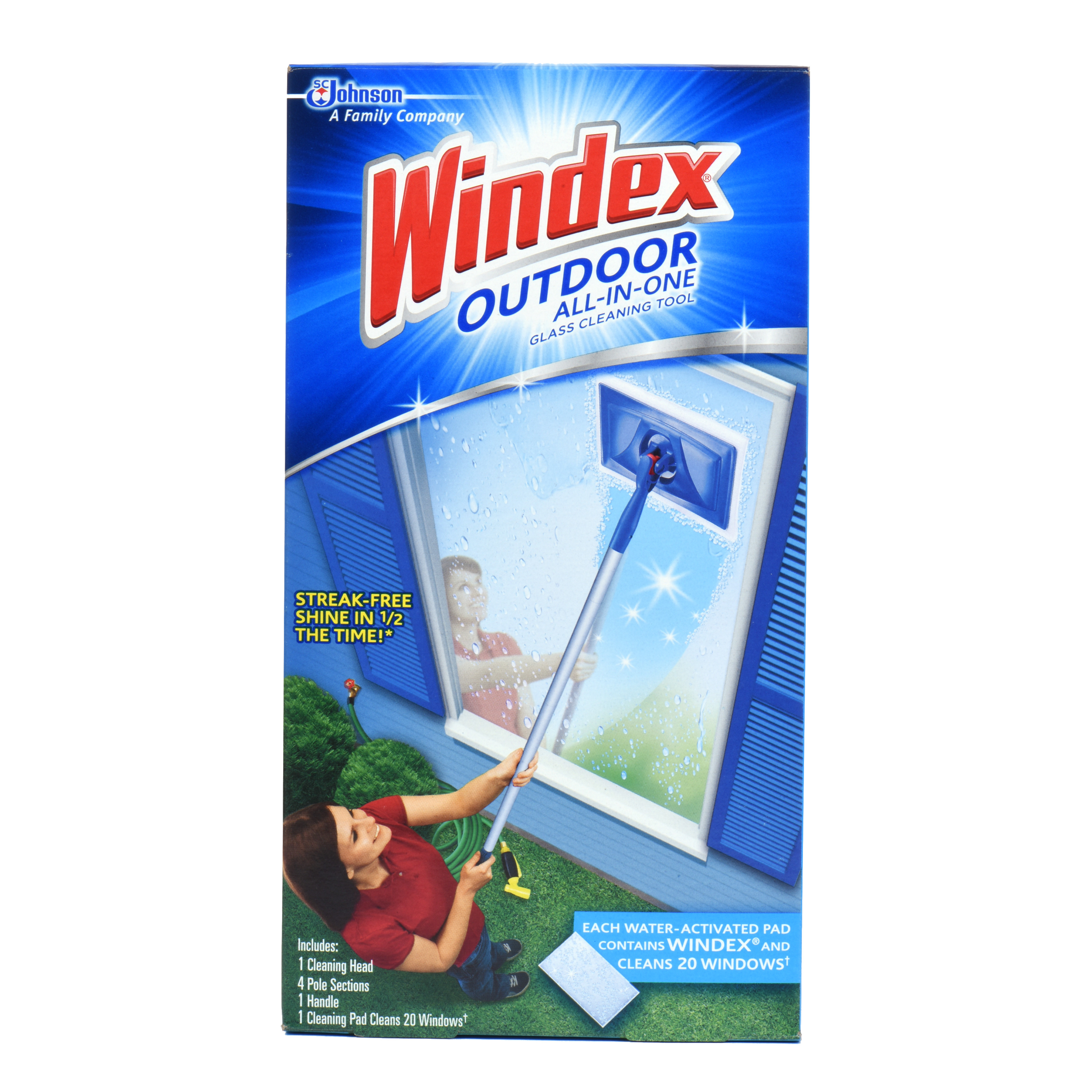 Windex Outdoor All In One Glass Cleaning Tool Starter Kit