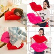 Stuffed Plush Lip Shaped Throw Pillow Decor Cushion Toy Doll Home Decor