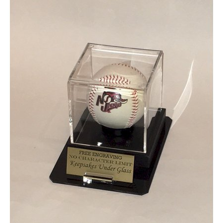 Octagon Acrylic (Baseball Personalized Acrylic Display Case - Holder with Octagon Base, Custom Ball and Nameplate)