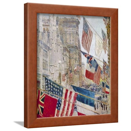 Day Framed Art (Hassam: Allies Day, May 1917 Framed Print Wall Art By Childe Hassam )