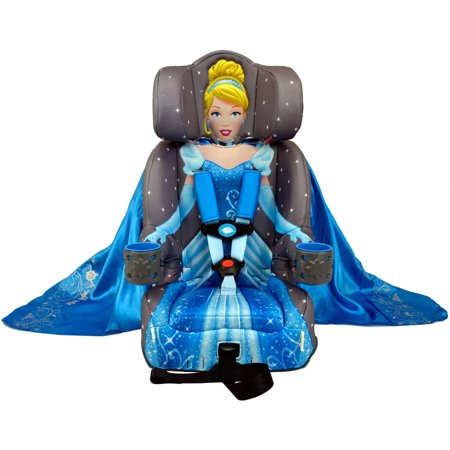 KidsEmbrace Combination Booster Car Seat, Disney Princess Cinderella, Gray