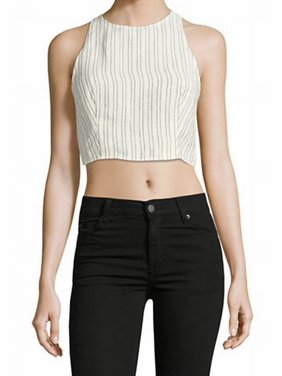 4b28a7ca45bbc Product Image Theory NEW White Women s Size Large L Striped Cropped Tank  Cami Top