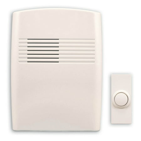 Heath Zenith Basic Series Wireless Door Chime, Off-White