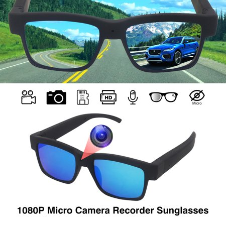 Diggro HD703 1080P Camera Sunglasses Micro Camera Sunglasses Recorder Eyewear Camcorder Support 32G TF (Sunglasses With Video Camera)