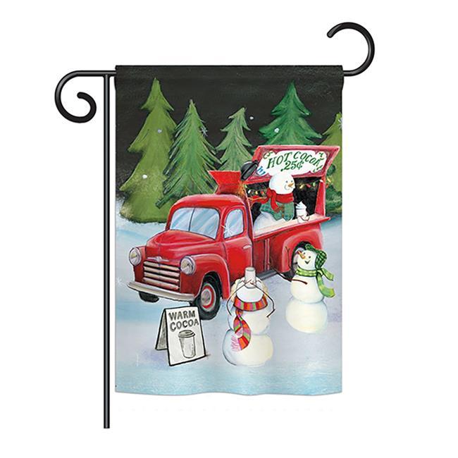 Snowmen Hot Cocoa Winter - Seasonal Christmas Impressions Decorative Vertical Garden Flag - 13 x 18.5 in. - image 1 of 1