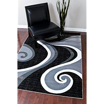 0327 turquoise white gray black 5 39 2x7 39 2 area rug abstract carpet. Black Bedroom Furniture Sets. Home Design Ideas