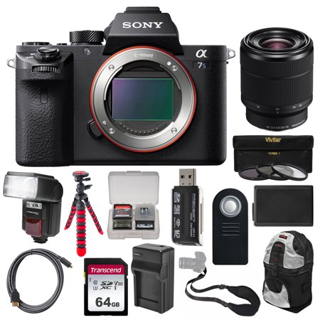 Sony Alpha A7S II 4K Wi-Fi Digital Camera Body with FE 28-70mm Lens + 64GB  Card + Backpack + Flash + Battery + Charger + Tripod + Kit