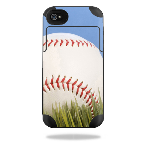Mightyskins Protective Vinyl Skin Decal Cover for Mophie Juice Pack Plus iPhone 4 / 4S External Battery Case wrap sticker skins Baseball