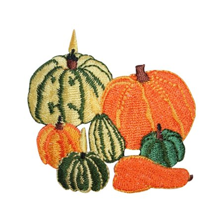 ID 1412 Assorted Pumpkins Patch Halloween Lantern Embroidered Iron On Applique - Iron On Halloween Appliques