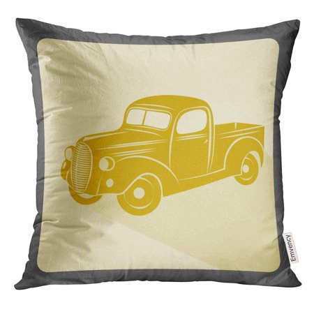 EREHome Colorful Truck Retro Car Vintage Style Old Pillow Case 18x18 Inches Pillowcase - image 1 of 1