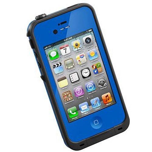 iPhone 4 Lifeproof Waterproof Hard Shell Case BLU/BLACK