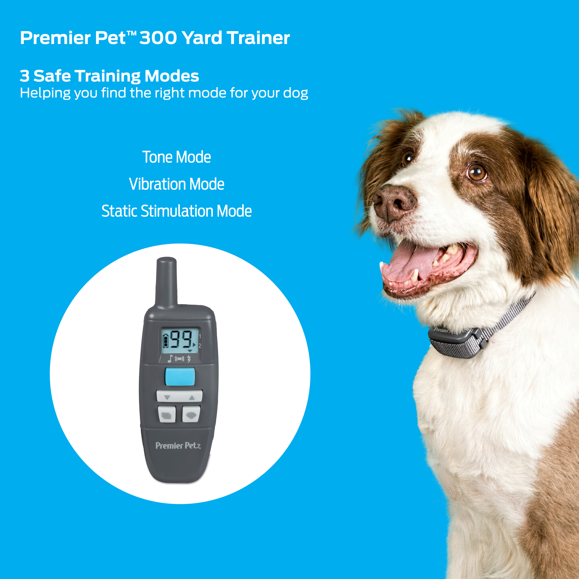 Premier Pet 300 Yard Remote Trainer - Easy-To-Use Dog Training