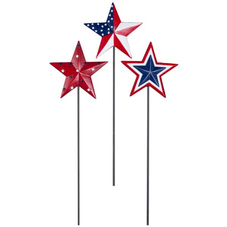Barn Star Planter Stakes by Fox River™ Creations, Set of 3