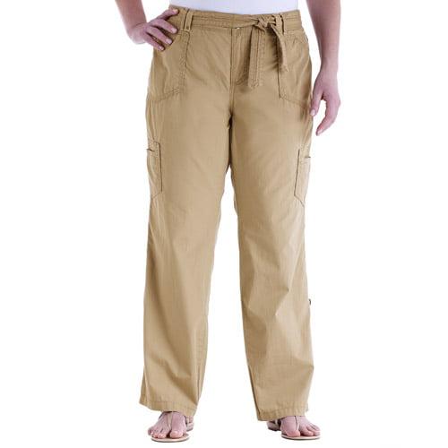 Simple Faded Glory  Women39s Plus Cinched Cargo Capri Pants Women39s Plus