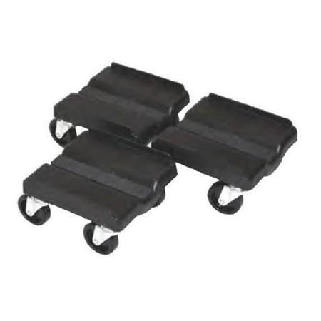 Super Caddy SUPER SPORT Four Wheel Dolly - 3 Piece Set - Black