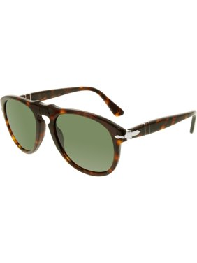 Persol Men's PO0649-24/31-52 Tortoiseshell Square Sunglasses