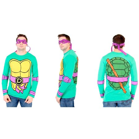 Teenage Mutant Ninja Turtles Long Sleeve Costume Green T-Shirt & Eye Mask](Tmnt Masks)