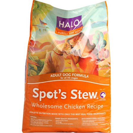 Halo Purely For Pets Spot's Stew Wholesome Chicken Adult Dry Dog Food, 28 Lb