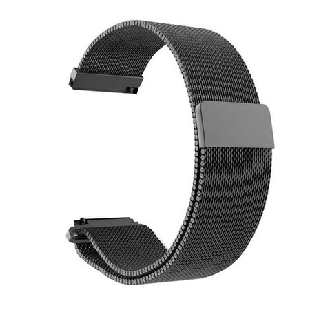 Mignova for Galaxy Watch 42mm/Galaxy Watch Active/Gear Sport/Gear S2 Classic 40mm Bands Milanese Loop Stainless Steel Metal Replacement Movement Strap with Magnetic Closure(Black) ()