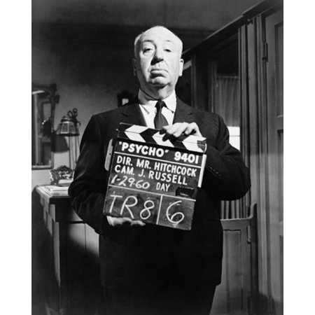 Alfred Hitchcock on Psycho Film Set 1960 Poster Print by McMahan Photo Archive (8 x 10) - Halloween Psycho Windows 8