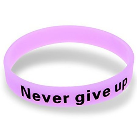 TURNTABLE LAB Never Give Up Luminous Bracelet Silicone Glow in the Dark Wristband Unisex @BSM