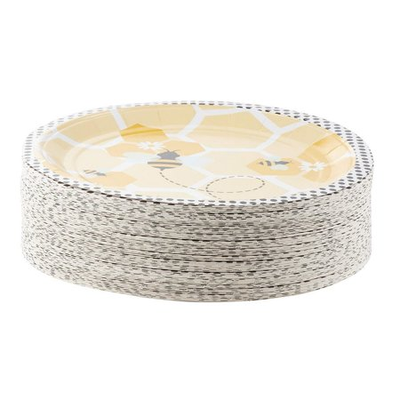 Disposable Plates - 80-Count Paper Plates, Bumble Bee ...