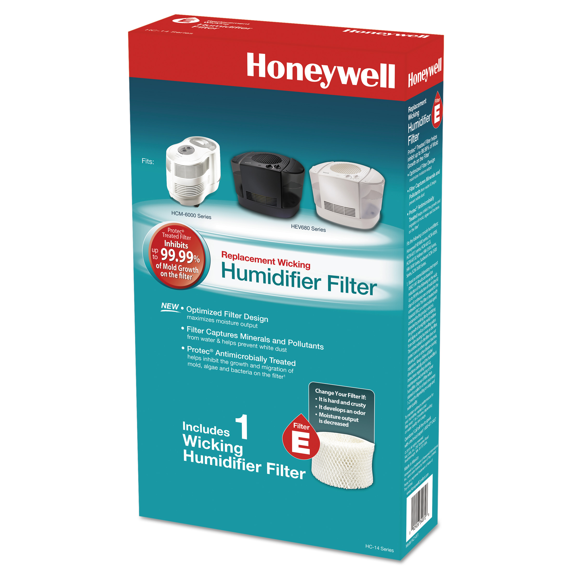 Honeywell Replacement Console Humidifier Filter E, 1 Pack