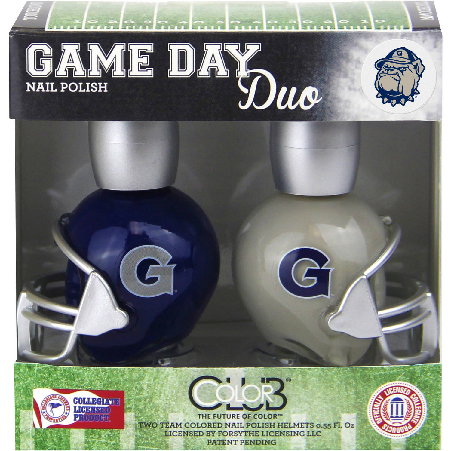 Color Club Game Day Duo Nail Polish, Georgetown, .55 fl oz, 2 count