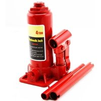 GHP 4-Ton Capacity Steel Frame Hydraulic Bottle Jack with Safe Ratcheting Head