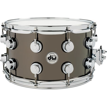 DW Collector's Series Black Nickel Over Brass Metal Snare Drum (Dw 14x8 Snare Drum)