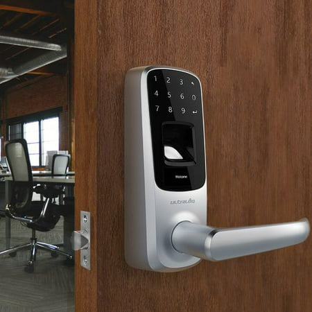 Fingerprint Door Lock - Ultraloq UL3 Fingerprint and Touchscreen Smart Lock (Satin Nickel)