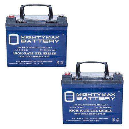 12V 35AH GEL Battery for Shepard Meyra Wheelchairs 3400 - 2 Pack