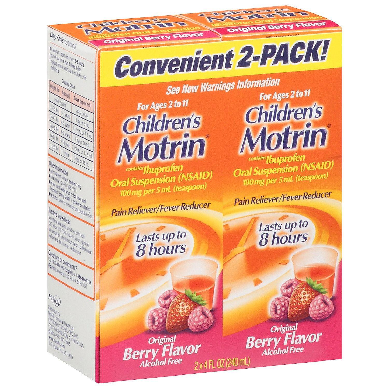 Children's Motrin Pain Reliever/Fever Reducer Liquid, Berry, 4 Fl Oz, 2 Ct