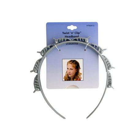 Twist 'N' Clip Headband (Pack Of 24) - Plastic Headbands In Bulk