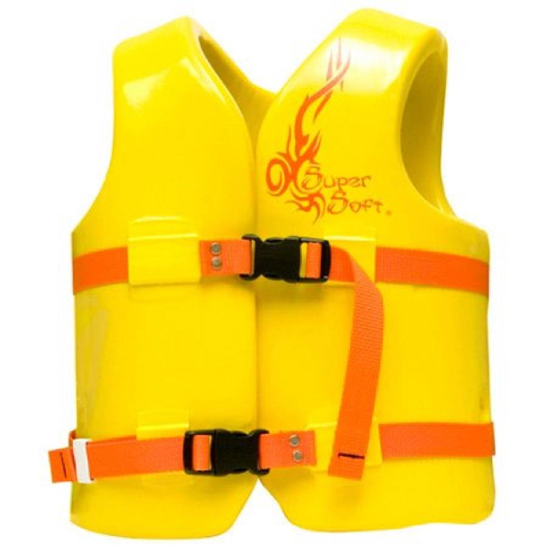 Kool yellow Texas Rec Supersoft Swim Life Vest Small 23-24in