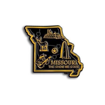 Missouri the Show Me State Map Fridge Magnet (Show Me A Map Of The Dominican Republic)