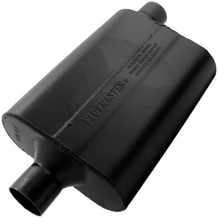 Flowmaster 942447 Super 44 Muffler - 2.25 Center In / 2.25 Offset Out - Aggressive Sound ()
