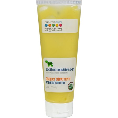 Natures Baby Organics Diaper Ointment Fragrance Free  3 0 Oz