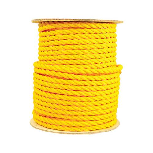 Wellington Cordage 30254 Poly Rope, Twisted, Yellow, 5/8-In. x 300-Ft. - Quantity 1
