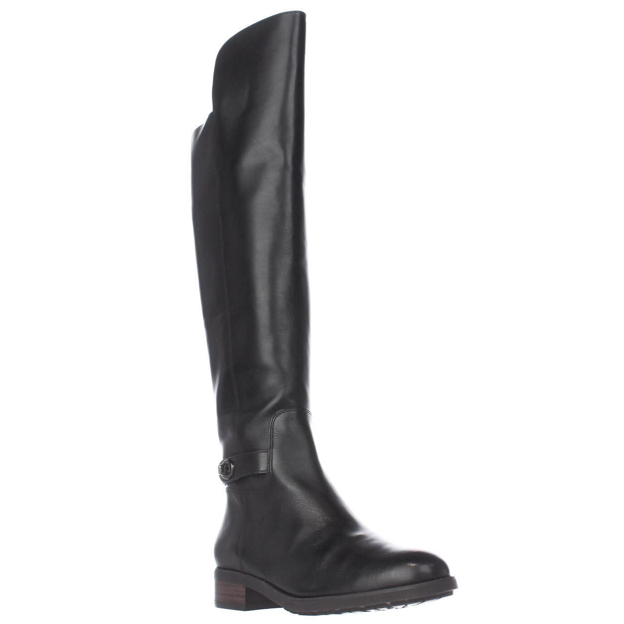 Womens Coach Emmie Tall Turnlock Boots, Black