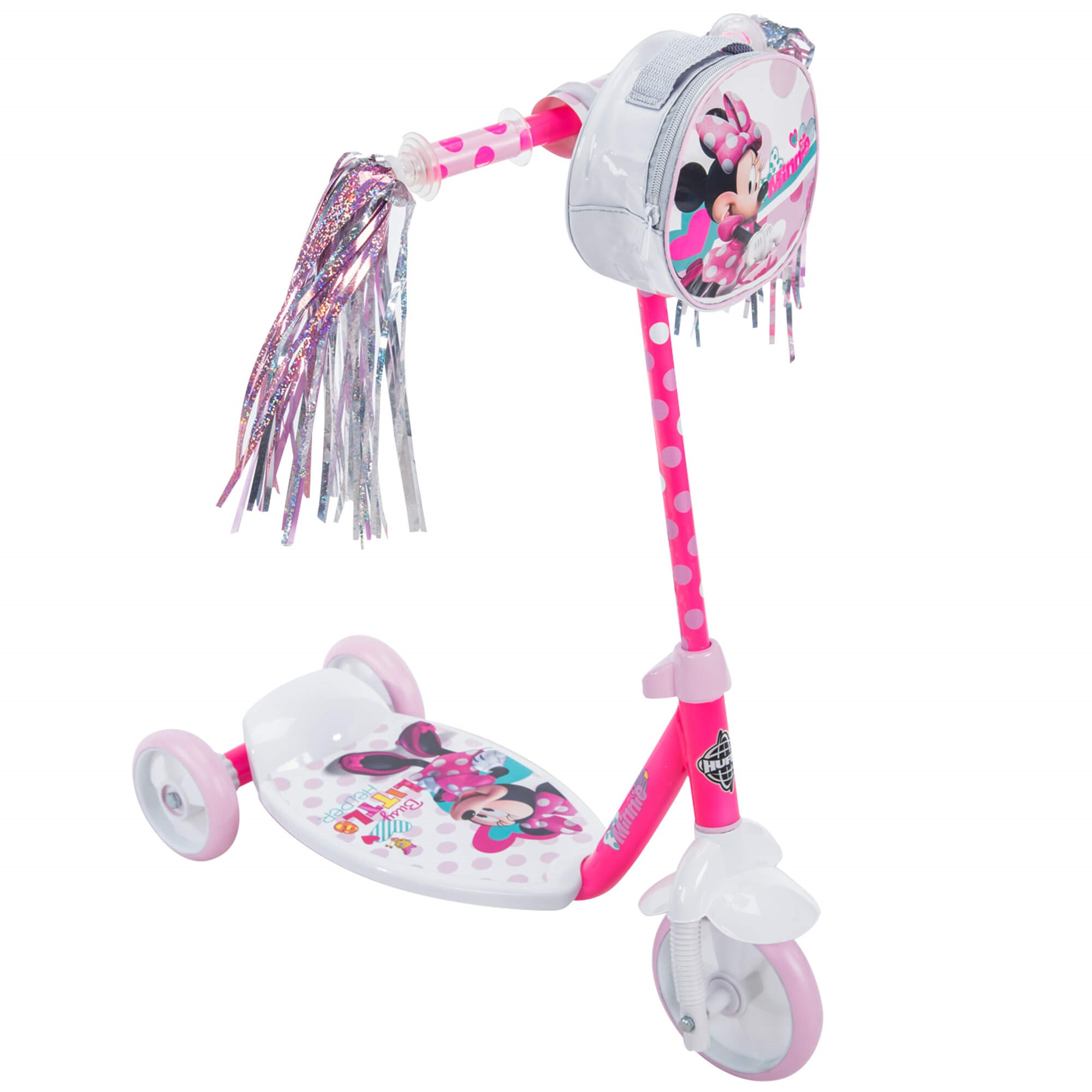 Disney Minnie Girls' 3-Wheel Pink Scooter, by Huffy