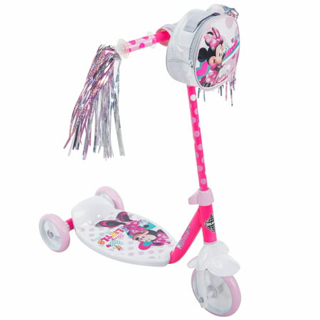 Disney Minnie Girls' 3-Wheel Pink Scooter, by