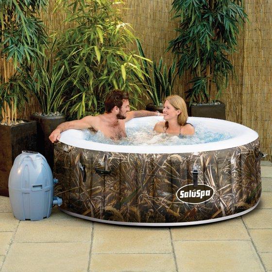 SaluSpa Realtree MAX-5 AirJet 4-Person Portable Inflatable Hot Tub ...