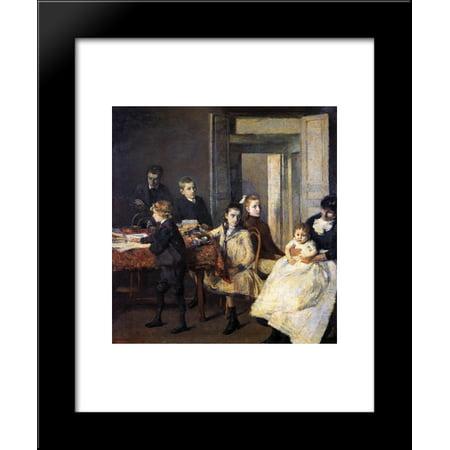 The Children of Francois van Rysselberghe 20x24 Framed Art Print by Theo van Rysselberghe