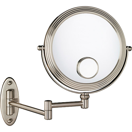 Wall Mounted Magnifying Mirror 15x 1x/10x w/15x magnification matte nickel wall mount beauty mirror
