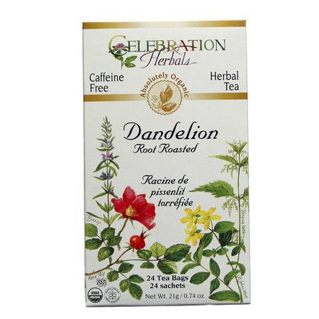 Celebration Herbals racine de pissenlit rôti Thé bio, 24 Ct