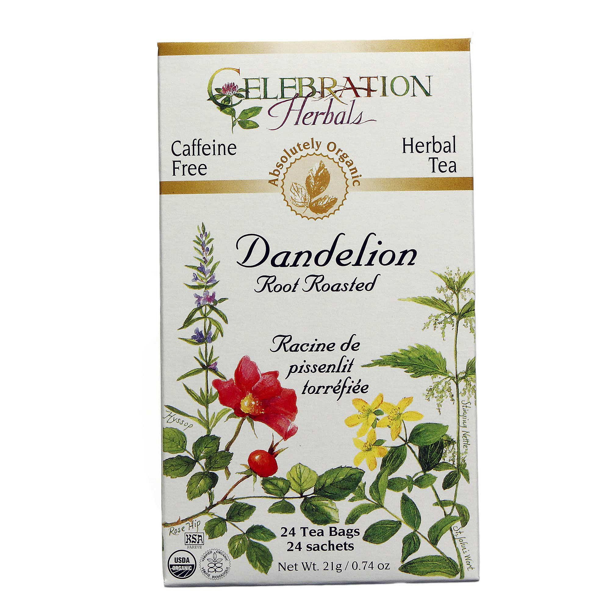 Celebration Herbals Dandelion Root Roasted Tea Organic, 24 Ct